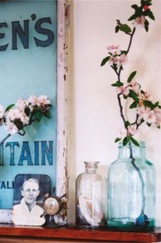Glass jars used as flowerpots - Home Decoration Ideas for your Favourite Rooms