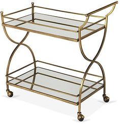 One Kings Lane Mckenzie Bar Cart - Antiqued Gold
