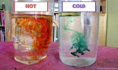 Demonstrate that temperature affects molecular movement by doing side-by-side liquid fireworks in hot and cold water. It's also a good opportunity to discuss why water and oil doesn't mix.