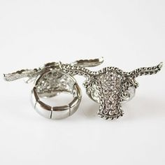 Antique Silver Texas Longhorn Western Jewelry Ring....I GOTTA HAVE IT!!!