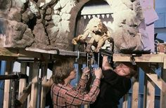 Filming Rancor rod-puppet for RotJ