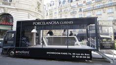 PORCELANOSA presenta las cocinas Emotions con un roadshow culinario en París #FoodTruck