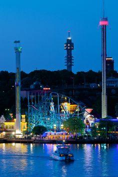 Gröna Lund Amusement Park Stockholm Sweden