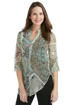 Cato Fashions Paisley Popover Top - Plus #CatoFashions