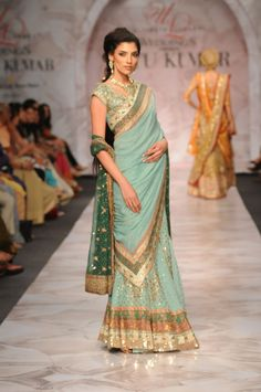 Ritu Kumar mint green gorgeous.