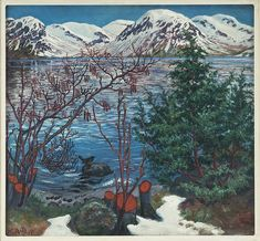 The Athenaeum - Bird on a Stone (Nicolai Astrup - )