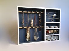 The Christine: Handcrafted Jewelry Display Organizer in Windsor Blue