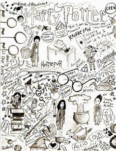 Harry Potter Doodle Page by Halfway-Anna.deviantart.com on @DeviantArt