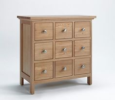 Sherwood Oak Dvd/cd Storage Cabinet - 9 Drawers