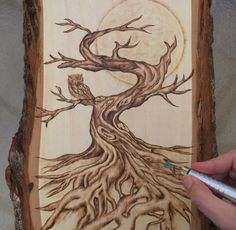 wood burn tree - Google Search