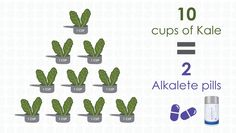 Kale is a great alkalizing vegetable but I am not giving up my Alkalete.