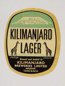 Kilimanjaro Lager Label Vintage Logo Design, Custom Logo Design, Badge Design, Label Design, Hipster Brands, Flea Market Style, Beer Brewery, Beer Coasters, Stickers