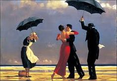 Takes me back to ballroom dancing! The painting was on the wall in the studio!! X