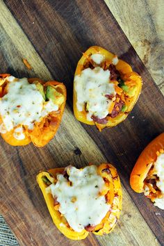 Chorizo Avocado Butternut Squash Rice Stuffed Peppers