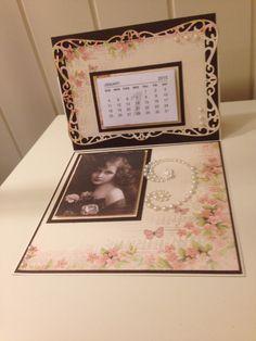 Kalender på staffelikort