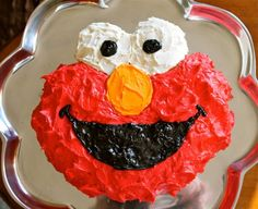 Fruit Angel Cake whip cream and Fruit The perfect Elmo cake for my