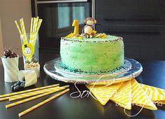 Sokerimuruja. Monkey birthday cake. apinakakku syntymäpäiville.