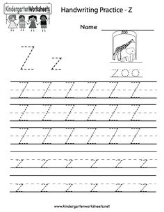 Kindergarten Letter X Writing Practice Worksheet Printable ...