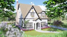 Storybook Cottage for Home Plan: 861-60120 | 2474 Heated SqFt | 3 Bed | 3 Bath