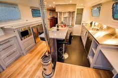 First days afloat – Wanderlust Barge Interior, Boat Interior, Canal Boat, Boat Stuff, One Day, Van Life, Small Living, Wanderlust, Boat House