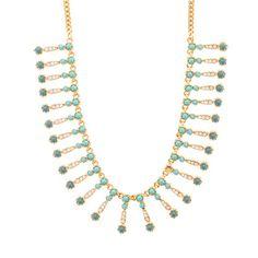 Seaside fringe necklace