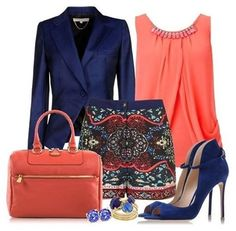 Office fashion in gorgeous spring colors. We would kill for these shoes! Do you dress up or dress down on Fridays? #officeattire #businesscasual #fashion #thenaturalway