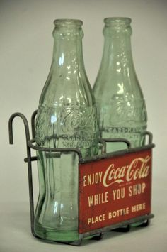 1950s Coca-Cola Two-Bottle Shopping Cart Rack