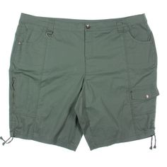 Style & Co. 9858 Womens Tummy Control Cargo Bermuda, Walking Shorts Plus Bhfo