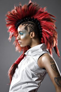 Style Star: Azmarie Livingston - The Haute Syndicate Azmarie Livingston, Hair Reference, Fantasy Hair, Androgynous Fashion, Afro Punk, Dream Hair, Interesting Faces, Love Hair, Cute Hairstyles