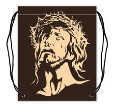 Custom Jesus Basketball Drawstring Bags Backpacks Polyester Fabric Travel Backpack(Twin Sides) -- Awesome products selected by Anna Churchill