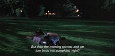 """— Before Sunrise (1995)""""But then the morning comes, and we turn back into pumpkins, right?"""""""