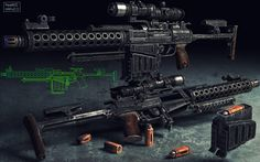 heavy assault rifle_v2.0, Иллюстрация © ПавелПроскурин