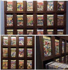 9 best comic book storage displays images comic book storage rh pinterest com