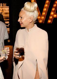 Sia Furler Source — Sia + Hair in a bun.