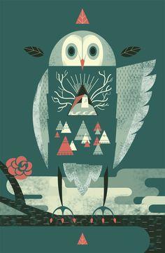 Wisdom of Owl - Sophie Lim http://artofsophielim.tumblr.com/