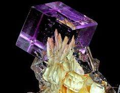 Fluorite with barite.