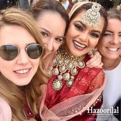 BreakingBridal - Ravishing in Red with Emeralds and Polki choker. #HazoorilalBySandeepNarang #HazoorilalBrides @akinamalsi #Polki #Emeralds #Choker #MaangTika #BridalJewellery #Since1952 #Glorious65years #ItcMaurya #DlfEmporio #GK-1 #HazoorilalJewellers #Hazoorilal