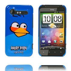 Angry Bird HTC Incredible S Deksel (Blå)