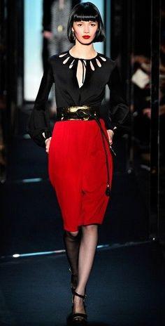 DVF Diane Von Furstenberg KIANDRA Colorblock Belted Dress Black Pomegranate $498