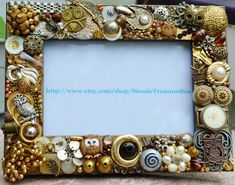 handmade owl mosaic picture frame, jewelry mosaic, owl frame
