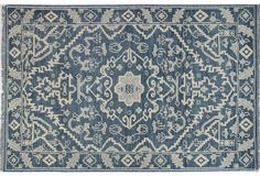For entry??? Ava Hand-Knotted Rug, Azure