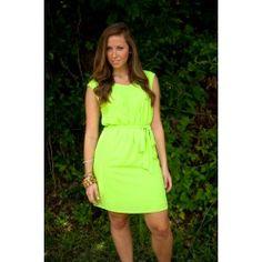 Sashay Away Tunic-Lime - $50.00