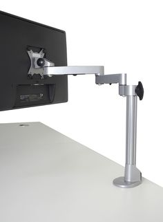 """Single Computer Monitor Desk Mount Fully Adjustable Stand base for up to 27"""" Screen, with BOTH C-clamp and Grommet Installtion Hardware. FREE SHIPPING WORLDWIDE!"""