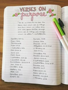 verses on purpose - bible journalling Bible Study Journal, Scripture Study, Bible Journaling For Beginners, Bible Art, Bible Verses Quotes, Bible Scriptures, Scriptures On Purpose, Bible Quotes For Women, Bibel Journal