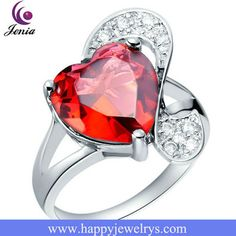 New Design High Quality Cheap Jewelry Large Ruby Rings (J091)