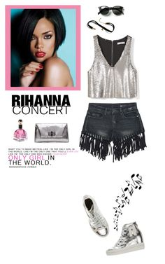 """""""Hot Tickets: Rihanna Concert"""" by rosie305 ❤ liked on Polyvore featuring MANGO, Ruco Line, Diane Von Furstenberg, Waverly, Urban Outfitters and Rihanna"""