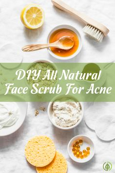 An easy DIY acne face scrub with household ingredients!