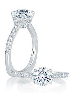Round Diamond Engagement Ring | A.JAFFE MES742Q |  http://trib.al/QcOnhoJ