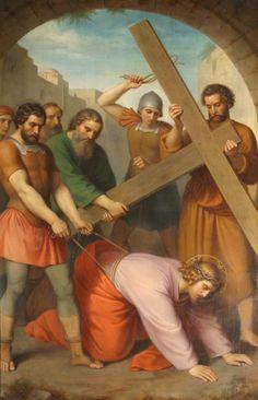 9. Estación: Jesús cae por tercera vez bajo la cruz