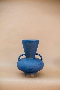 NICOLETTE JOHNSON CERAMICS - Blue Funnel Vessel